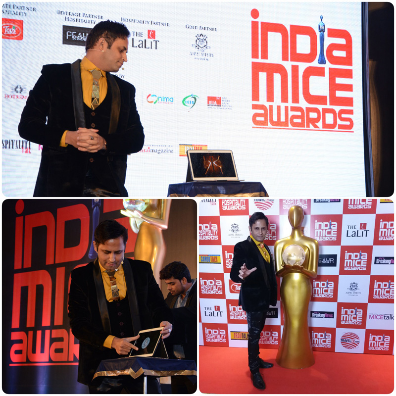 I PAD Interactive Magic during India MICE Awards 2017 honoring the Top guns of the Indian Hospitality Industry