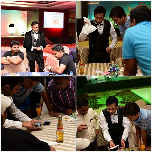 Interactive illusions for BAJAJ AUTO FINANCE Celebration Party completing 30 years