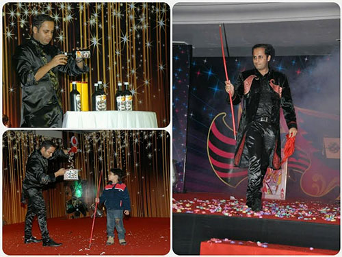 Stage Interactive illusions for VODAFONE FAMILY Meet (Punjab Belt) at Chandigarh