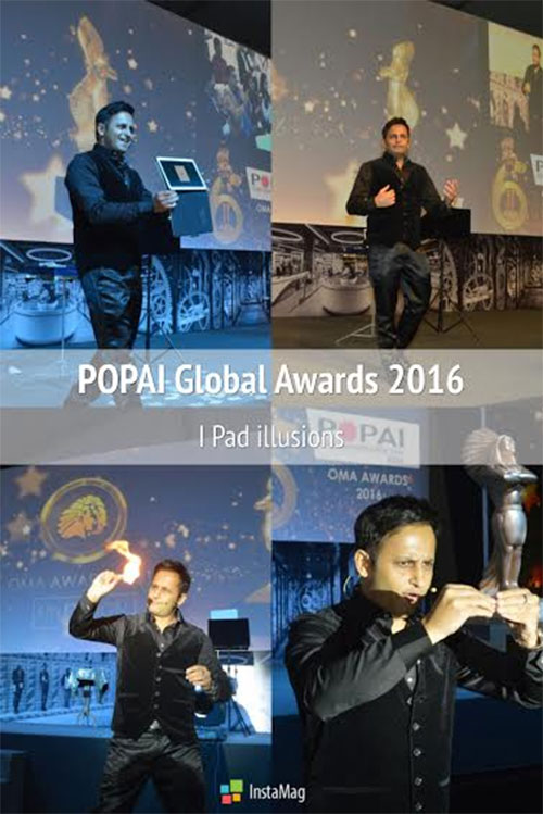 Crowd engaging I PAD Magic during POPAIs Global Awards - Pragati Maidan (Delhi)