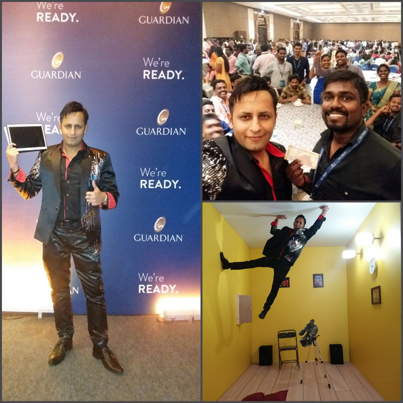 Rahul Kharbanda performed I PAD Magic & Digital Mentalism act for Guardian Life (150 years old American Company) Family Day in Chennai & Gurgaon.