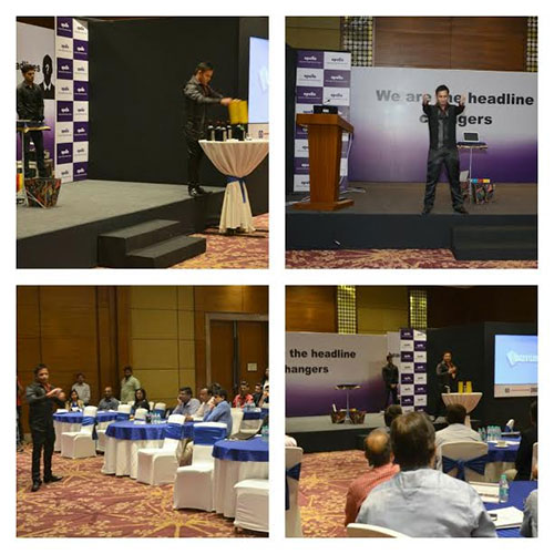 Stand Up Entertainment Act during DEALERs Meet of APOLLO in Gurugram