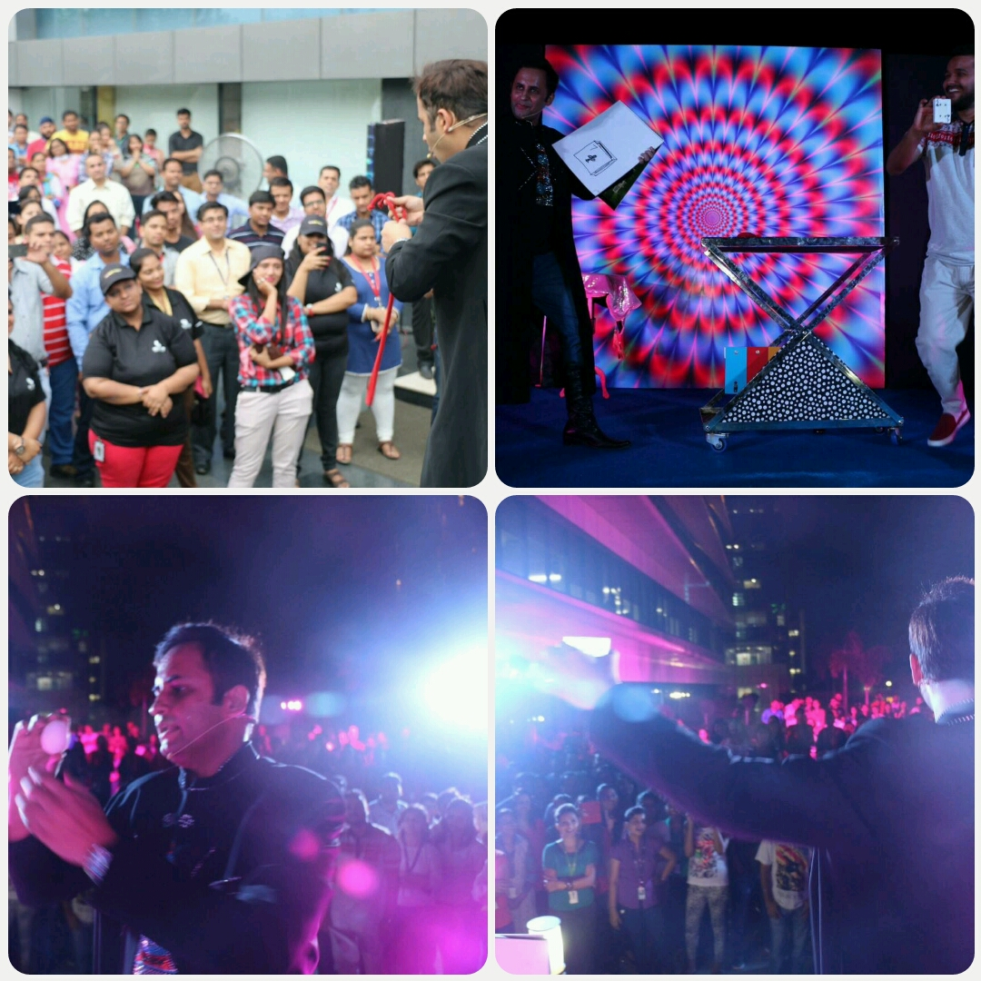 STAND UP Interactive illusions for Employees of ENCORE BPO in Gurugram