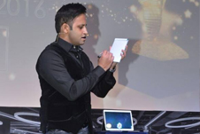 Magician / illusionist Rahul Kharbanda from New Delhi Performing IRON MAN act