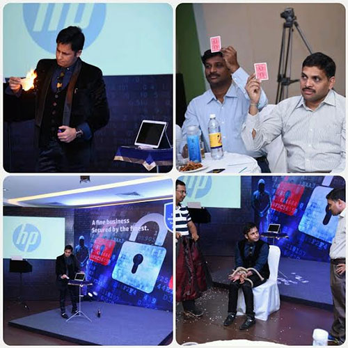 I Pad Magic with Interactive Mind Reading for HEWLETT PACKARD during HP Secure Workspace Summit 2017 at Chikmagalur