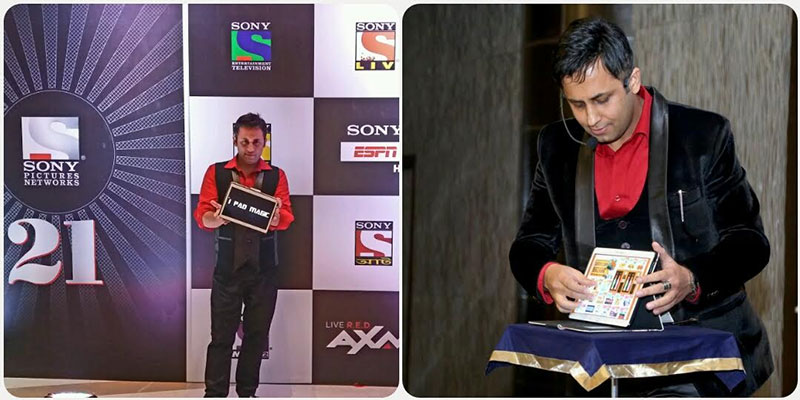 I PAD MAGIC during 21 years Celebration Party of SONY Channel in Mumbai