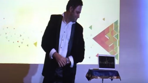 DIGITAL MAGIC for SAMSUNG on Samsung TABLET during its  DEALERs MEET & LAUNCH of 3D Gear - Virtual Reality Headset
