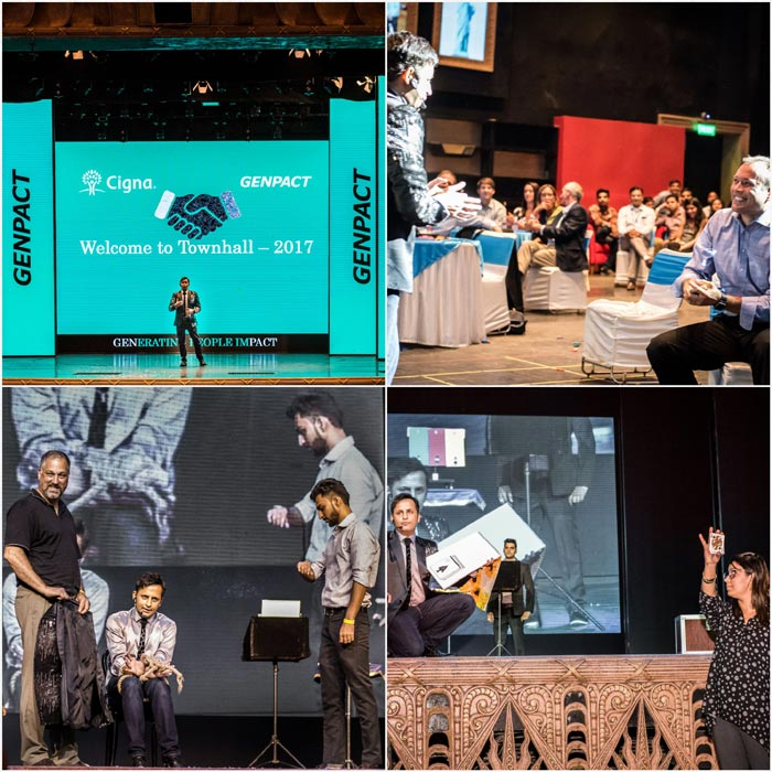 Interactive illusions for GENPACT during their EMPLOYEES Meet TOWNHALL 2017 at Kingdom of Dreams