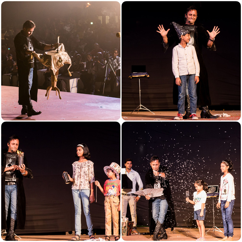 Kids special Interactive illusions by illusionist RAHUL KHARBANDA Celebrating CHILDREN´s Day in association with NDMC at Central Park Connaught Place¸ Delhi