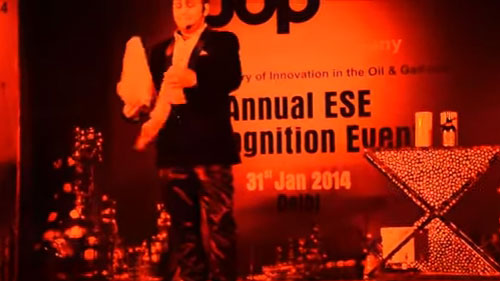 STAND UP Interactive illusions during Appreciation Awards of HONEYWELL UOP India