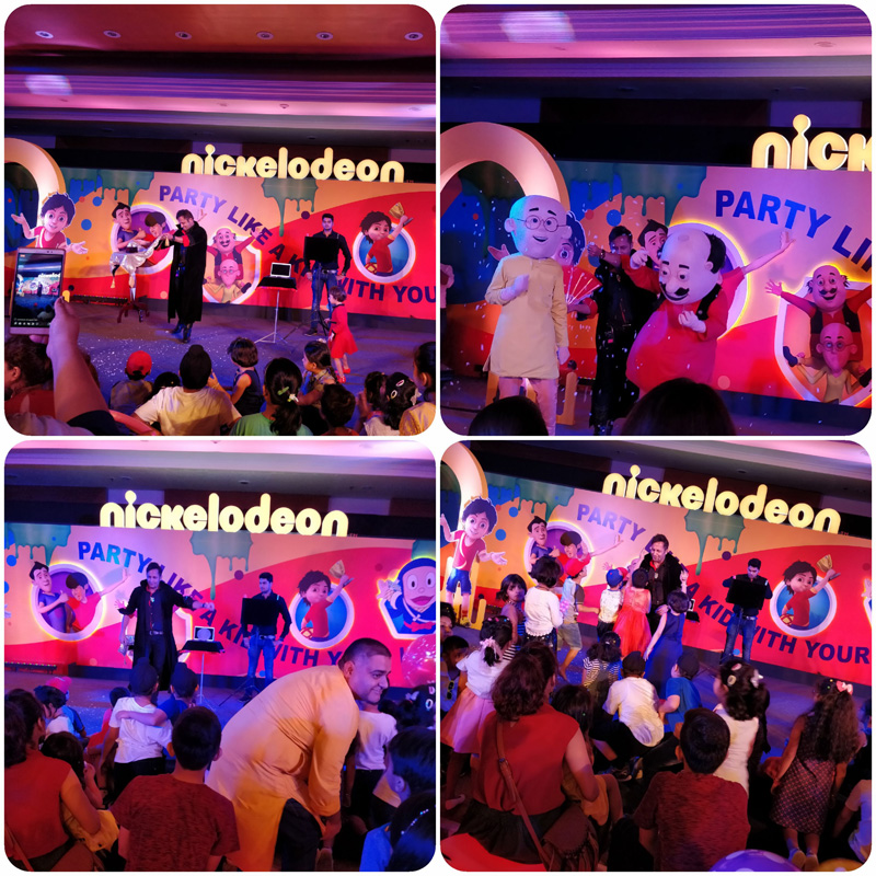 Rahul Kharbanda performed magic with toons during Nickelodeon´s family day event at Delhi